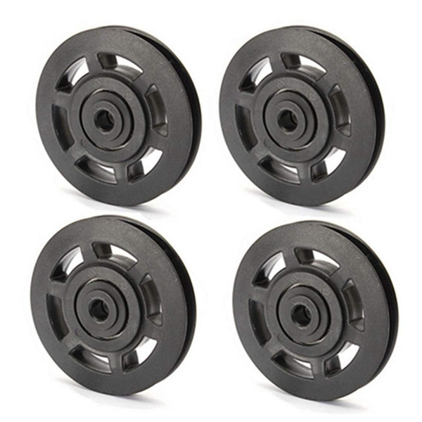 top popular 4Pcs 95mm Universal Bearing Pulley Wheel Cable Fitness Equipments Accessories Gym Equipment Part Wearproof Tool with Long Servic 2021