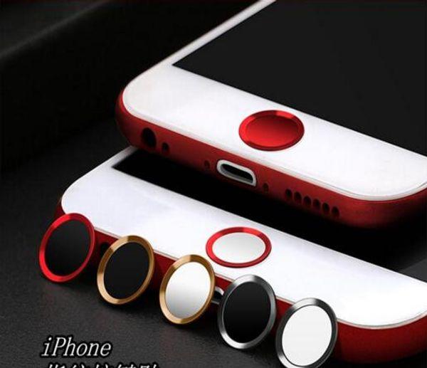 Apple botón de teléfono móvil pegatinas de metal botón de inicio huella digital desbloquear reconocimiento de dibujos animados pegatinas al por mayor
