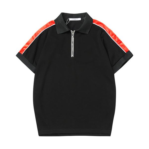 2019 New Brand Designer Summer Polo Tops Embroidery Mens Polo Shirts Fashion Shirt Men High Street Brand Shirt Casual Top Tee