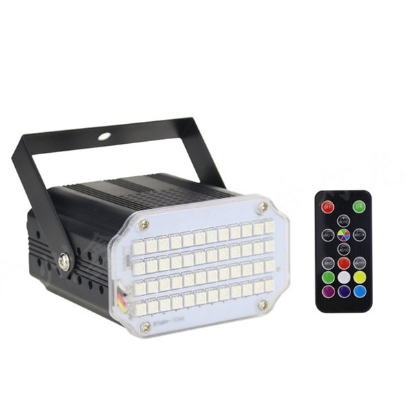 48 LED DJ Disco Sound Activated RGB Stage Lighting Effect Party Bar Club Mini LED Strobe Flash Lights with Remote Control