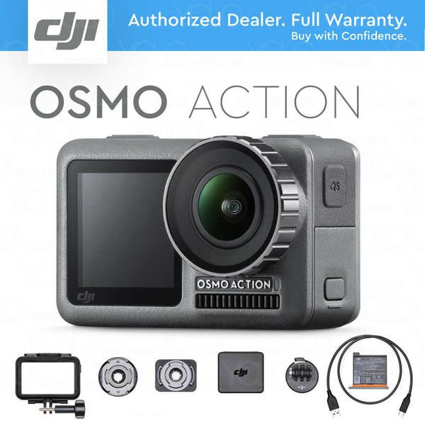 Dji o mo action 4k hdr video camera rock teady tabilization dual creen