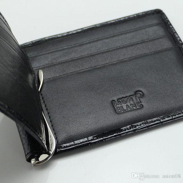 Förderungs-echtes Leder-MT-Geldbörsen-Geldklammer, MB-Manschettenknopf für das Hemd der Männer Rotgold / / goldene kupferne Manschettenknöpfe als Geschenk