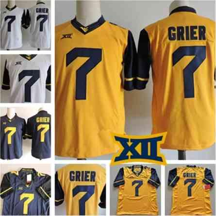 new arrival 927d6 2a574 2019 New West Virginia Mountaineers 7 Will Grier 13 David ...