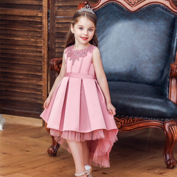 Kids Dresses For Girls Princess Wedding Christmas Party Dress Girl Clothes 3 To 10 Years Teenage Girl Frock Dress Children Clothing F026