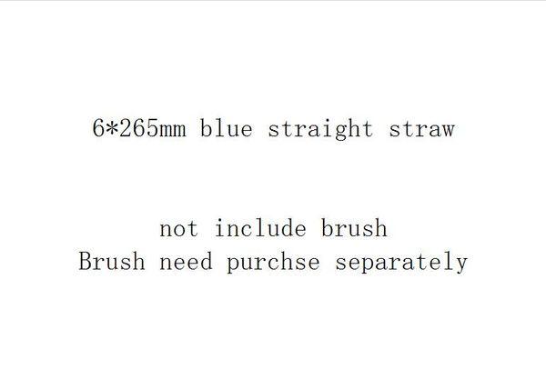 6 * 265mm القش الأزرق على التوالي