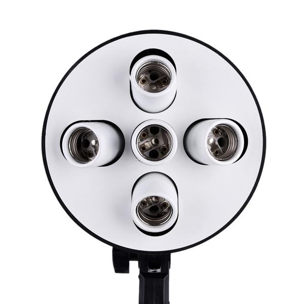 5 in 1 E27 Bankası Soket Işık Lamba Ampul Tutucu Adaptörü Fotoğraf Video Studio Softbox