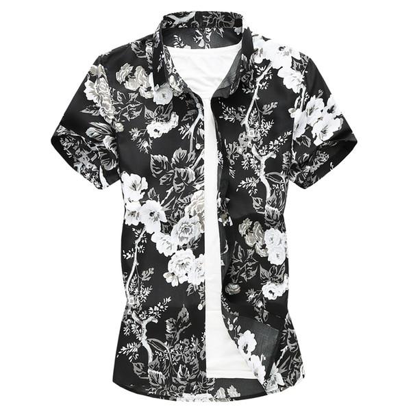 Calrtyasa mens tamanho grande camisas 2019 novo verão camisas de manga curta roupas de marca havaiano camisa ocasional dos homens camisa masculina