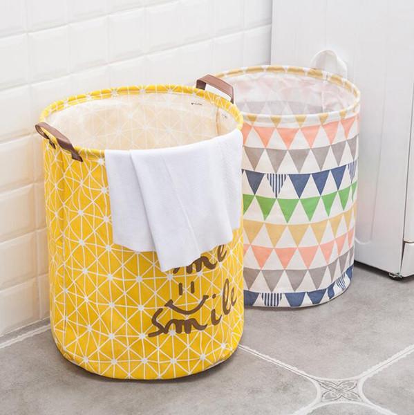 Cubo grande con cordón Puerto Beam ropa sucia cesta de lavadero plegable Juguetes organizador del almacenaje de las misceláneas del hogar bolsa