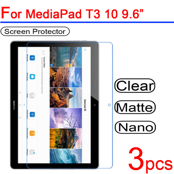 3pcs Ultra Clear Soft LCD Screen Protectors film Guard Cover for Huawei Mediapad T3 10 7.0 8.0 3G WIFI Tablet Protective Film