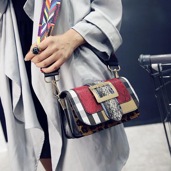 Kadınlar için 2018 crossbody çanta deri çanta lüks çanta kadın çanta tasarımcısı serpantin şerit omuz çantası bolsa ana kesesi # 210752