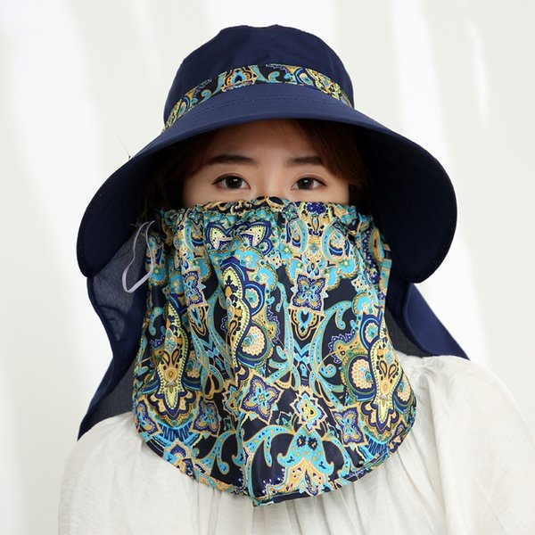 Cobrir o rosto xaile azuis marinhos