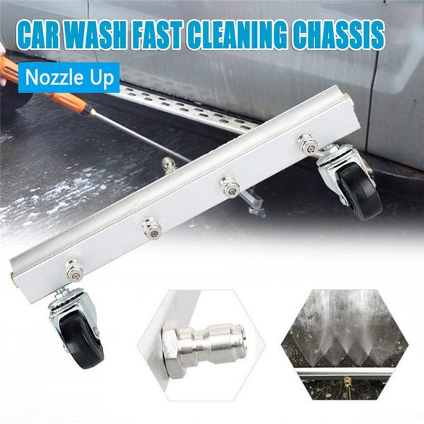 13 Inch Car Pressure Washer Undercarriage Wash 4000 PSI 4PCS Nozzle 1/4inch Male Plug with Two Rod Car Accessories Auto Products