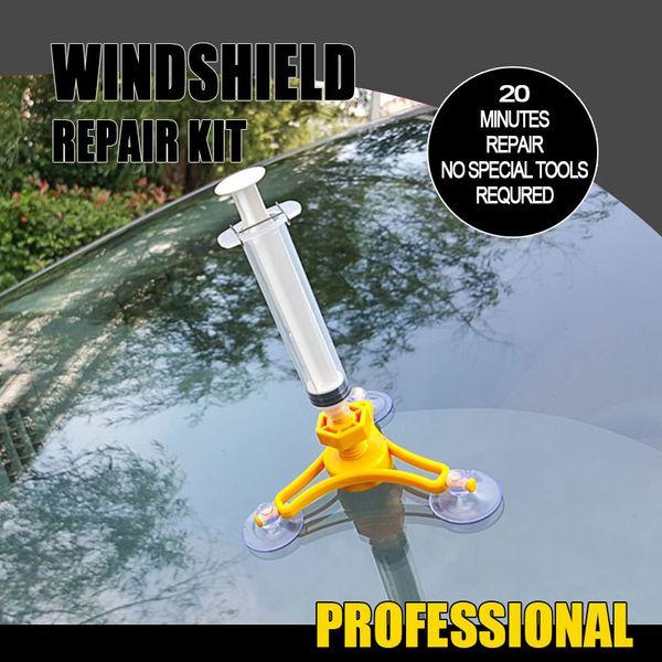 1 Conjunto de Ferramentas de Reparação de Pára Brisa Do Carro DIY Kit Janela de Reparação de Reparação de Vidro Do Carro Windscreen Repair Tool Set Para Crack HHA52