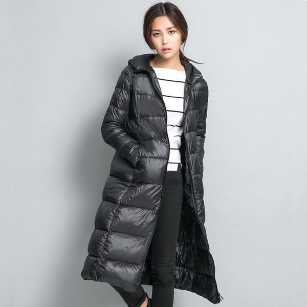 Großhandel 2016 Lange Frauen Winter Daunenjacke Frauen Parka Ultraleicht Gewicht 90% Ente Daunenmantel Weibliche Oberbekleidung Von Fitzgerald10,