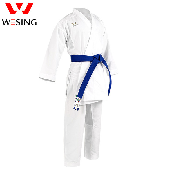 top popular Wesing Karate Kumite gi Karate Uniform White with Belt Approved by WKF 2020