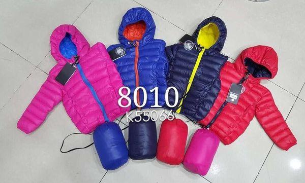 Новые Тонкие модели Детская верхняя одежда Мальчик и девочка Пальто с капюшоном Детская куртка с хлопком и подкладкой Детские куртки Красная девушка 8010