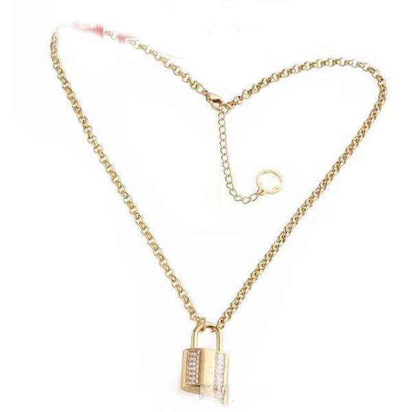 collana di gioielli firmati da donna con pendente ghiacciato collana in oro cubico con diamante cubico