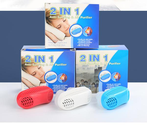 2019 Anti ronquido Dilatadores nasales Dispositivo de ayuda para la apnea Ronquido Tapón Pinza nasal Aparato respiratorio nasal Detener el ronquido Dispositivo de sueño saludable B2143