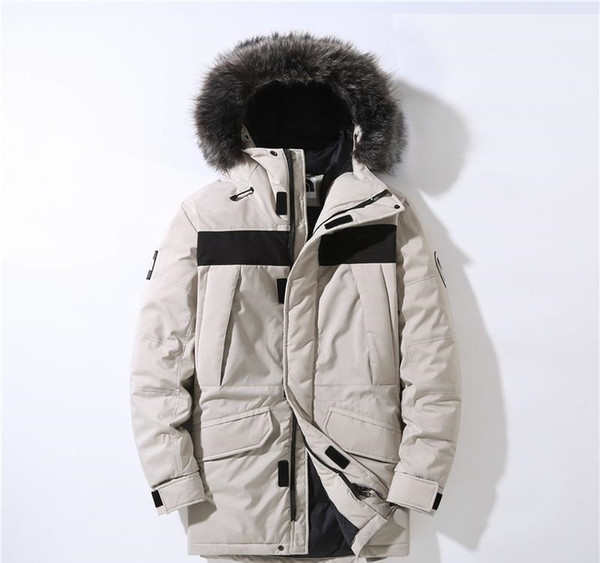 maschile giacca invernale 19 super caldo stile NORD modo esterno verso il basso, classico logo VISO, negozio diretto della fabbrica, la posta libero può tornare e exchang