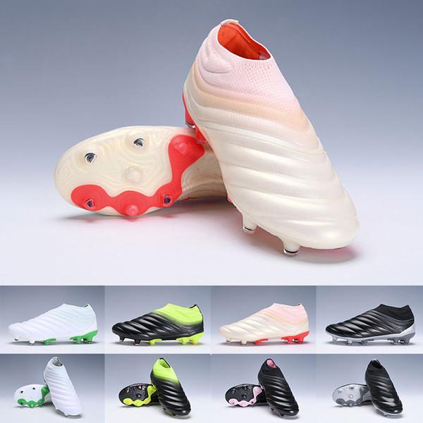 2019 Trendy Erkek Copa 19 + 19.1 FG AG Erkek Kadın Futbol Ayakkabıları Şampanya Güneş Kırmızı Futbol Ayakkabı Cleats Scarpe Calcio Eğitmenler 38-45