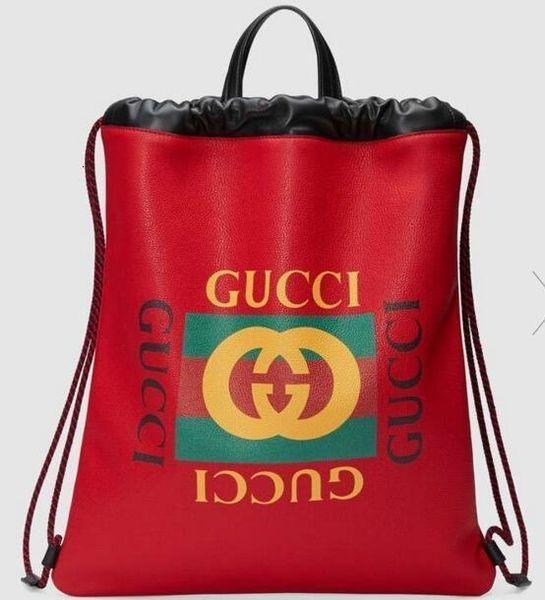 Печать Кожа Drawstring Рюкзак 494053 Мужчины Рюкзаки Плечевые сумки Totes сумки Top Ручки Cross Body Посланника сумки