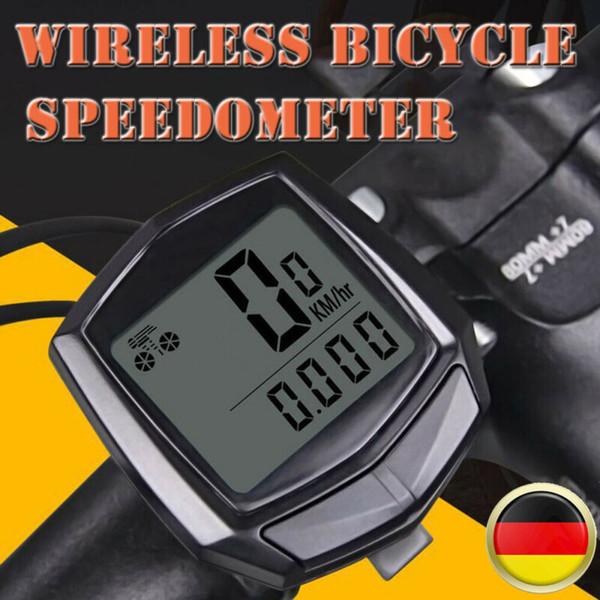 Wireless-LCD-Digital-Zyklus-Computer-Fahrrad-Hintergrundbeleuchtung-Geschwindigkeitsmesser