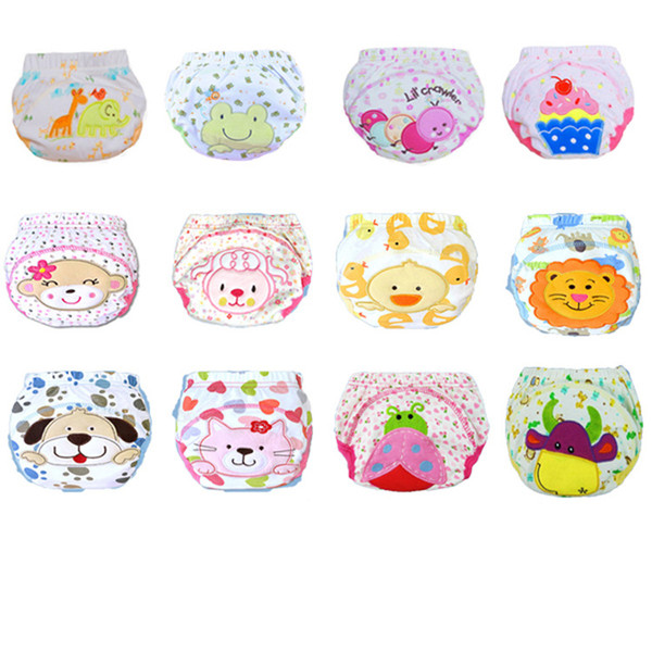 top popular Mix 20 Pcs Baby Diaper Reusable Nappy Washable Cloth Nappies Wholesale Cotton Learning Pants Kids Wear 2021