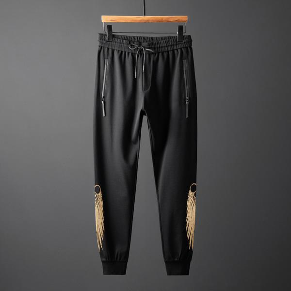 Mens Designer Tracksuits Brand Arms Side High Fashion Golden Wings Sweatshirt + Pant Spring Autumn Long Sleeve Sets Luxury M-3XL B100214V