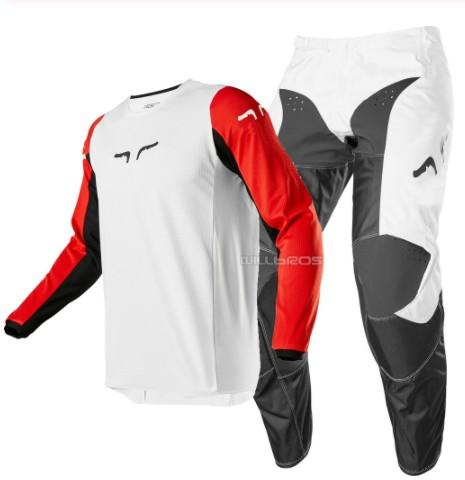 top popular Free shipping 2020 NAUGHTY MX ATV Racing Race 180 Prix MX Offroad Jersey Pant Motocross ATV Adult Gear Combo White Black Red 2020
