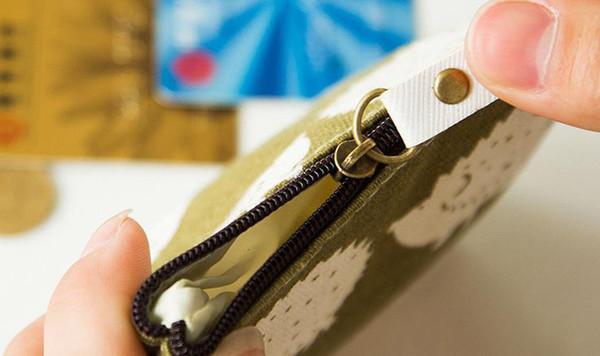Wholesale cute coin purse canvas wallet cartoon coin pack simple fashion key case 0033