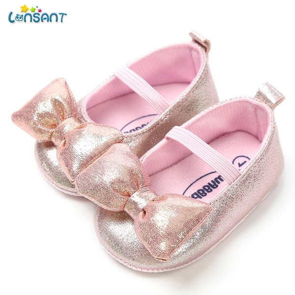 Baby Girls Bowknot Moccasins with Sparkly Love Heart Anti-Slip House Crib Shoes
