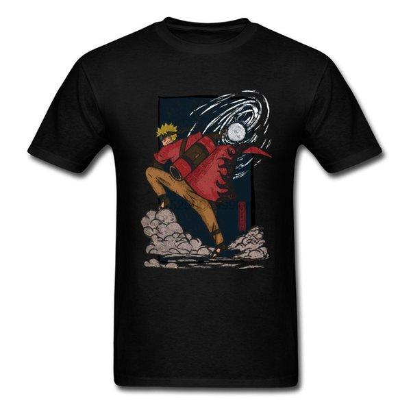 Nuova camicia Anime Naruto T di alta qualità MenFashion Comic Tshirt Divertente eroe della foglia giapponese Anime Teeshirt Blu Navy