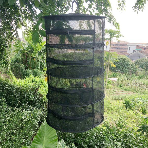 Herb Drying pieghevole Rete da pesca con cerniere Dryer Mesh vassoio Stendino Fiori gancio Fish Net Tackle Accessori Strumenti