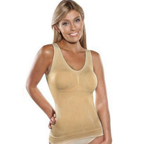 جديد سليم الصدرية كامي تانك الأعلى المرأة الجسم المشكل للإزالة المشكل داخلية التخسيس سترة مشد ملابس داخلية