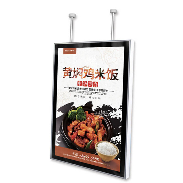 60*80cm Ceiling Directional Sign LED Light Box Featuring 42mm Thickness Aluminum Frame with Wooden Case Packing
