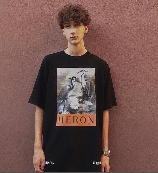 2019 New Heron Preston T-shirt da uomo T-shirt da uomo da donna T-shirt da donna di alta qualità Coppie con maniche corte