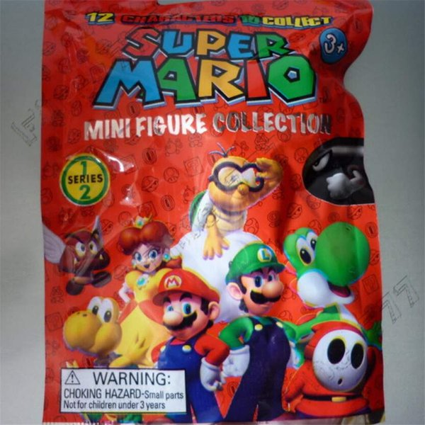Super Mario Bros. Action Figures 12Models Yoshi Princess Figures Doll Toys Best Gifts For Kids Exquisite retail bag Packaging 72PCS/box