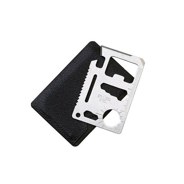 Novelty 11 in 1 Pocket Tool Multifunction Knife Credit Edc Outdoor Bottle Survive Gear Card Multi Multipurpose Gadget Camp Opener Wallet Kit