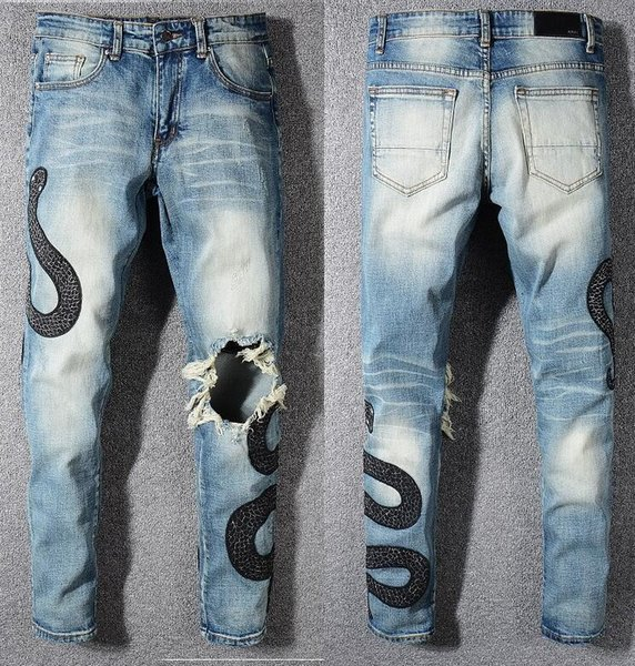 Men's jeans, amiri brand jeans, men's designer jeans, 2019 latest high quality, trusted product. Size 28-40 014