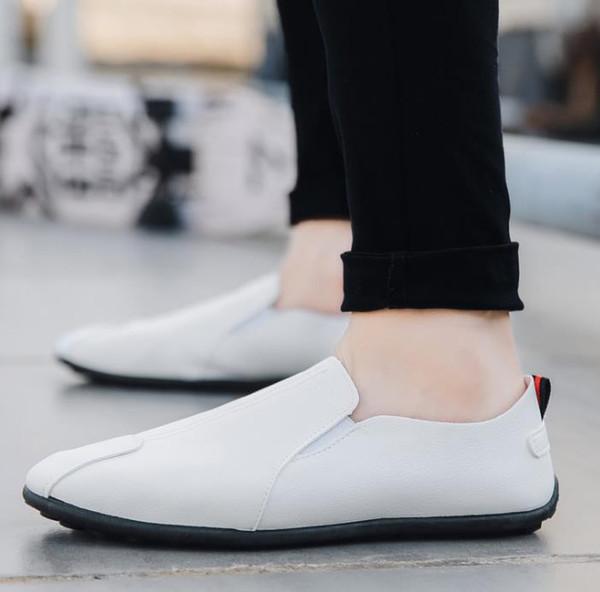 2019 sapatos novos gorro primavera / verão para homens ocasional de couro slacker velhos sapatos de pano de Pequim versão coreana de sapatos masculinos da moda # 004