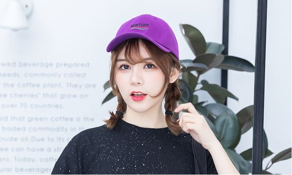 Summer ladies sunscreen sunscreen cap student couple casual wild letters embroidered baseball cap adult