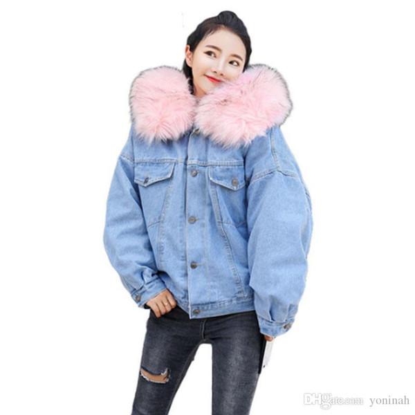 giacca di jeans imbottito oversized