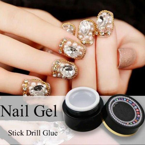 6g Colla per unghie Decorazioni per nail art Gemme per gioielli Colla adesiva UV LED Soak Off Che Gel Art Tool Super Sticky