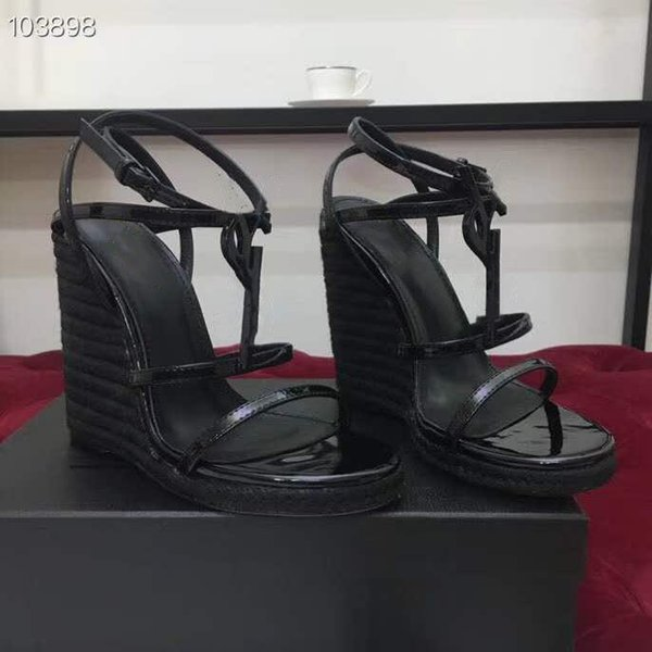 2019 Classic High Heel Sandals, Cassandra Platform Espadrilles in Leather with A Bamboo Logo,Lady Party Pumps Size ???
