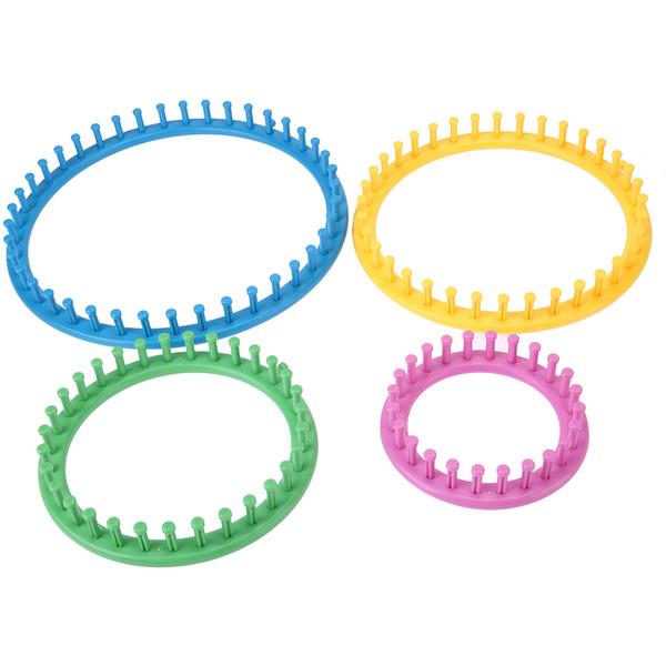 4 Size Classical Round Circle Hat Knitting Needles Knit Loom Kit 1 Wool Yarn Needle Knit Hobby Knitting Machine Sewing Tools