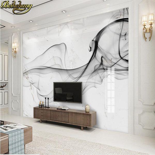 Personalizzato smog Ink Foto Wallpaper ristorante club KTV Bar 3D deco murale Wall Paper arte del paesaggio in marmo TV sfondo