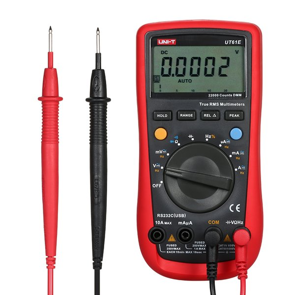 Digital Multimeter Tester Electrical Handheld Tester Modern LCD Display Multimetro Ammeter Multitester Probe UNI-T UT61E