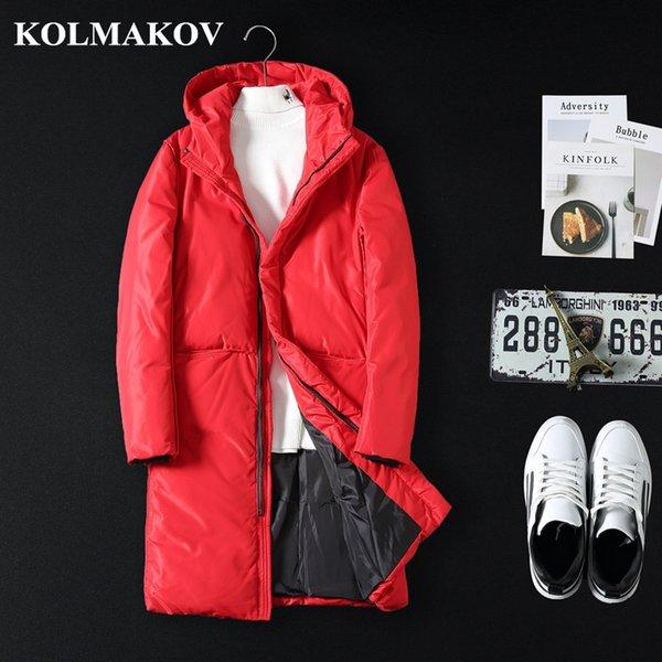 KOLMAKOV Abbigliamento uomo NUOVI Uomini Parka Inverno Cappotto lungo uomo  con cappuccio Parka ispessito Giacche Casual Cappotti di alta qualità  Maschio M- ... 72c15396d7b