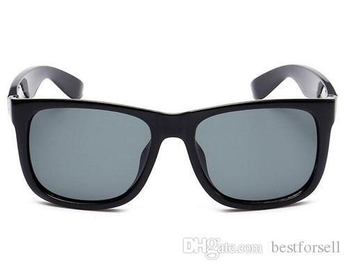 Yeni Moda Güneş Gözlüğü UV400 Justin Erkekler Bayan Marka Tasarımcısı Sürüş Gözlükler ile Degrade Güneş Gözlükleri Siyah Kılıf