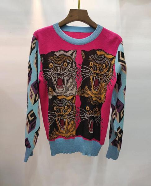 2019 Herbst und Winter neue Frauen langärmelige Goldfaden Stickerei Pullover Pullover wilde dünne Talsohle Shirt